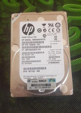 "HP 500ГБ 7200RPM 16МБ SAS 2.5"" (MM0500FBFVQ)"