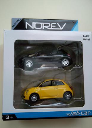 Модель Fiat 500 + Peugeot 207 1:43 Norev