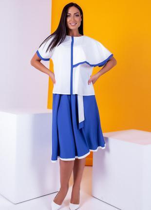 Костюм с юбкой с 52 по 62 размеры цвета на фото