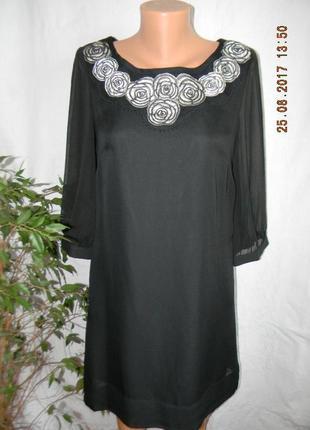 Платье шифоновое прямого кроя