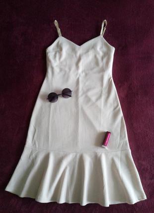 Нежнейшее платье-сарафан пудрового цвета