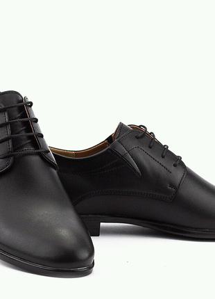 туфли кожаные весна/осень черные 39-45