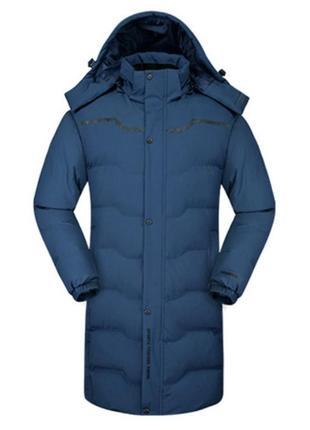 Мужская зимняя куртка пальто синего цвета