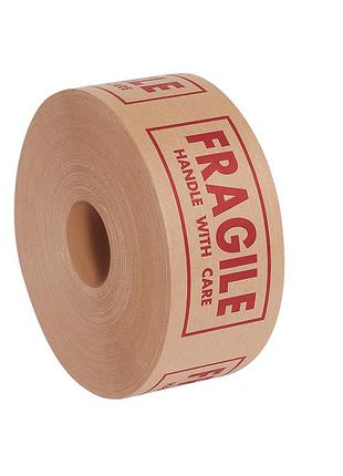 Крафт бумажный скотч FRAGILE (хрупкое) 48 мм х 50 м