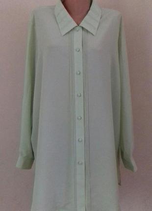 Блуза -рубашка большого размера