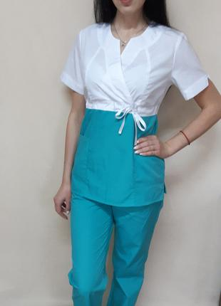 Женский медицинский костюм Сакура-комби