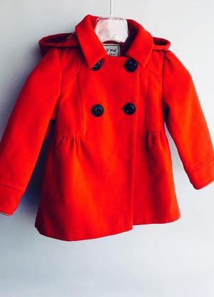 Бордовое пальто на осень next 2-3 года