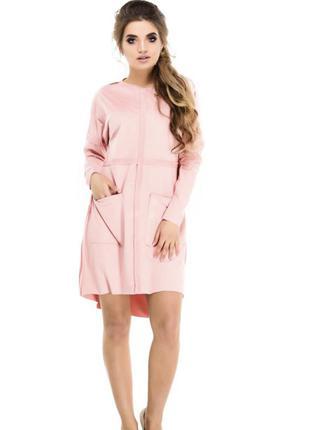 Платье эко-замш