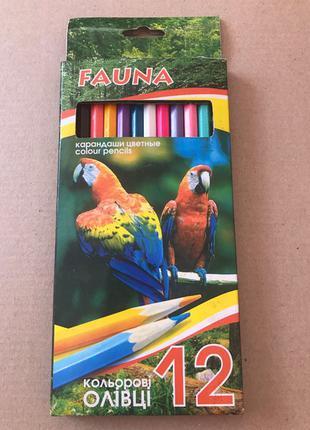 Карандаши цветные 12 шт