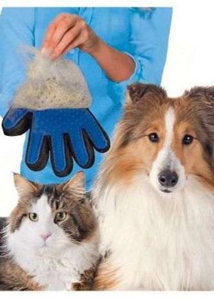 Перчатка для вычесывания шерсти True Touch Перчатка для животных