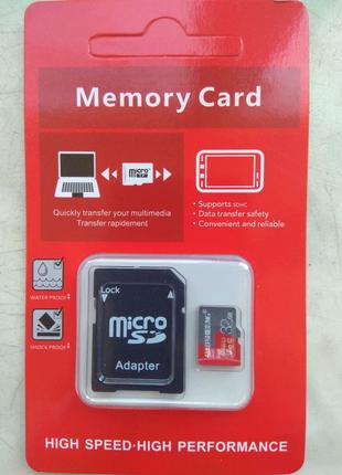 Карта памяти micro SD 32 GB + адаптер (переходник) для ноутбука