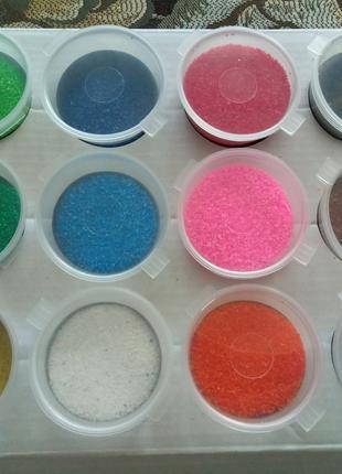 Песок разноцветный для творчества, розмальовка кольоровим піском