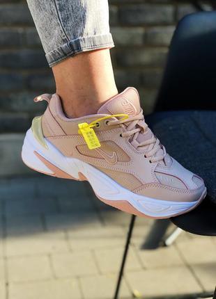 Nike m2k techno кроссовки бежевые