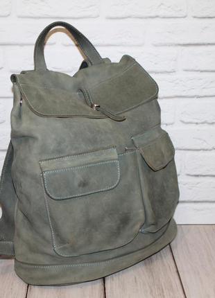 Кожаный городской рюкзак 100% натуральная кожа