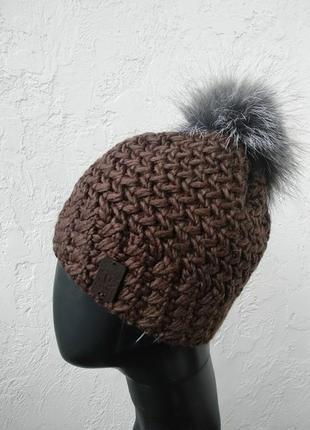 Стильная теплая шапочка. супер-цена!