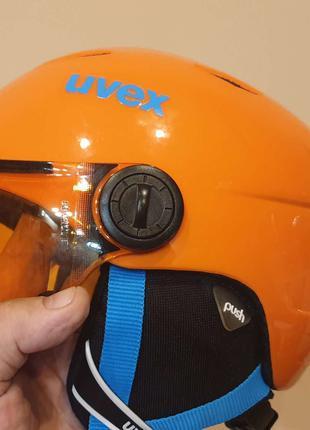 Продам UVEX VISOR JUNIOR сноубордический/горнолыжный шлем