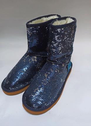 Угги синие even&odd.брендовая обувь stock
