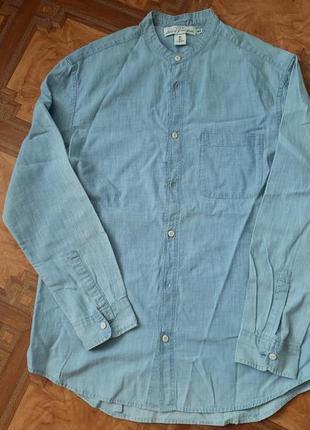 Классная мужская джинсовая рубашка