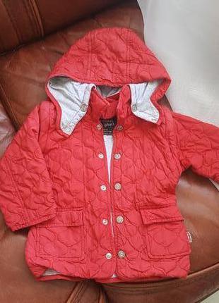 Очень крутая стеганая куртка от chicco wear 80 см 12-18м