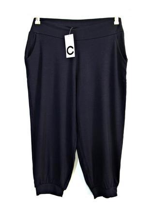 Мягкие темно-синие укороченные шорты велосипедки с карманами р...