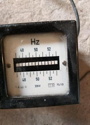 Частотомер EMR, 73/10, 48-50-52Hz. 220в. Германия, -1шт. 150грн