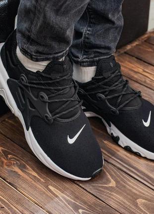 Nike air presto black/white🔺мужские кроссовки найк черные/белы...