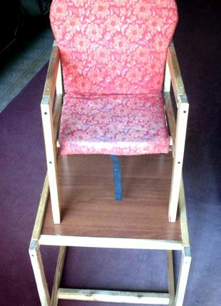 Стіл і стілець дитячий стільчик столик годування заняття