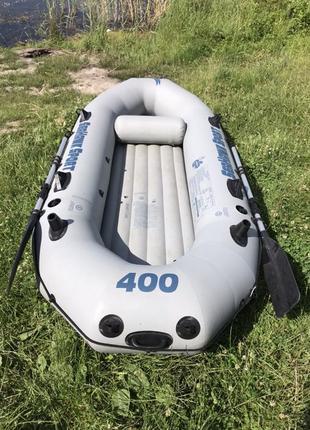 Лодка надувная пвх Intex Seahawk sport 400 арт. 68375 хорошая