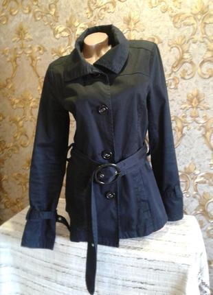 Коттоновая куртка удлинённый пиджак