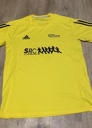 Яркая лимонная футболка adidas