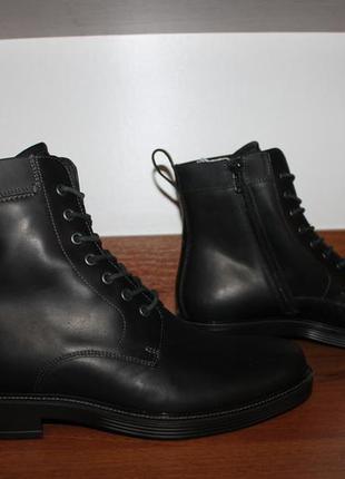 42 размер ecco кожаные ботинки оригинал