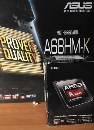 Процессор AMD A8-6600k, Материнская плата ASUS A68HMK