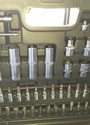 Набор инструментов головок ключей бит 108 ел. Набір інструментів