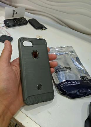 Чехол бампер и защитное стекло для Google pixel 3a