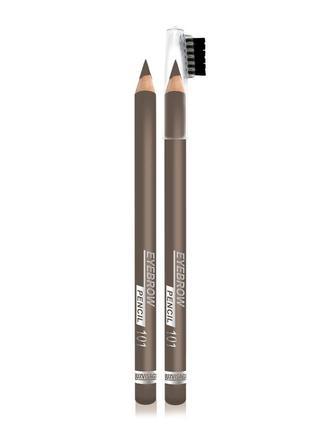 Стойкий пудровый карандаш для бровей luxvisage