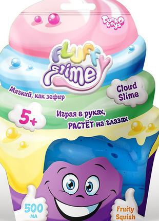 Слайм Fluffy Slime, вязкая масса, лизун - Danko Toys fls-02-01