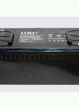 Гелиевый аккумулятор BATTERY 12V 200A UKC (Реальная ёмкость -40%