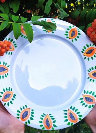Набор тарелок на 6 персон, тарелки обеденные ручной работы