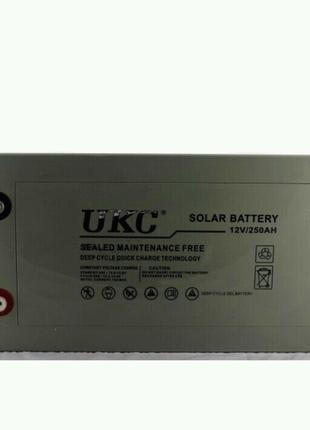 Гелиевый аккумулятор BATTERY 12V 250A UKC (Реальная ёмкость -40%