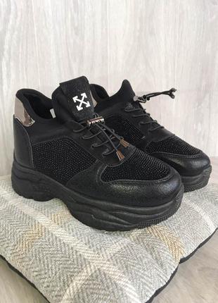 Кроссовки на меху зимнии ботинки