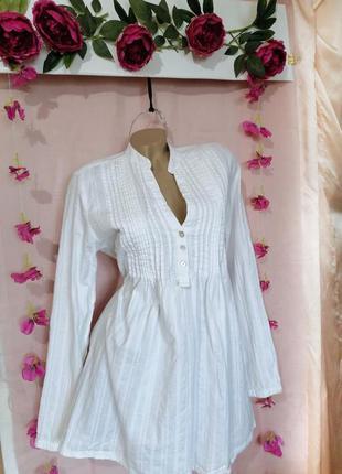 Натуральная рубашка с длинными рукавами🌷 hema