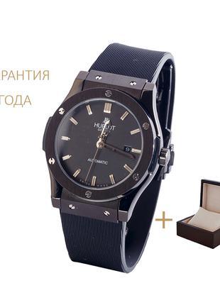 Часы мужские Hublot Classic Fusion All Black/новые/гарантия 2 год