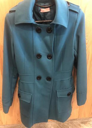 Итальянское двубортное женское пальто