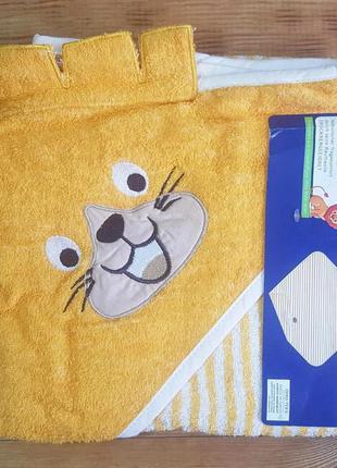 """Махровое полотенце-уголок для малыша """"львёнок"""""""
