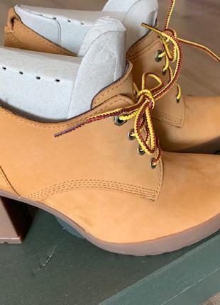 Кожаные ботинки Timberland США US8 24.5-25см новые