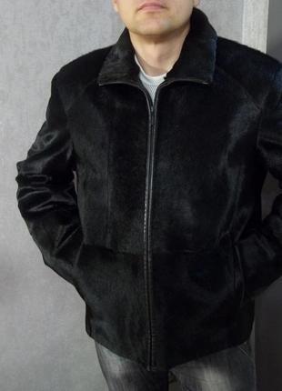 Куртка из пони, натуральная кожа