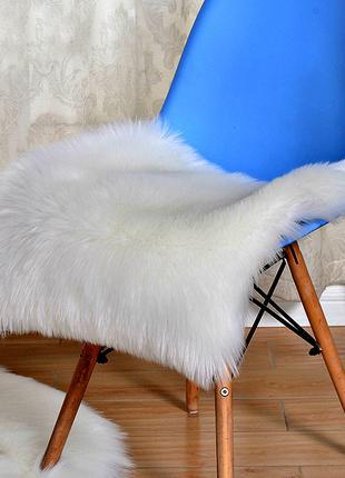 Накидка из искусственного меха на стул, кресло, эко мех, 45 х 45