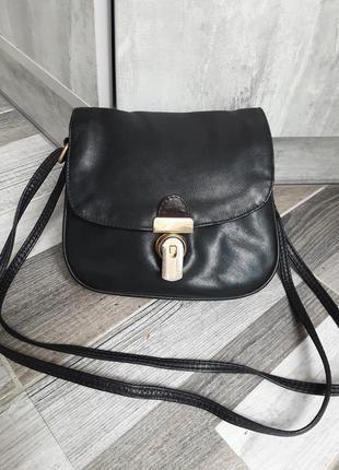 Кожаная сумка кроссбоди fancy