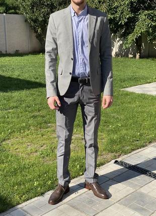 Новый мужской костюм пиджак брюки рубашка Oodji