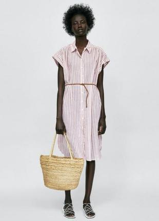Платье рубашка из хлопковый ткани